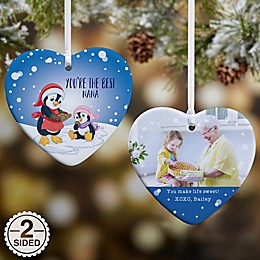 Precious Moments® 2-Sided Penguin Glossy Christmas Ornament in Blue