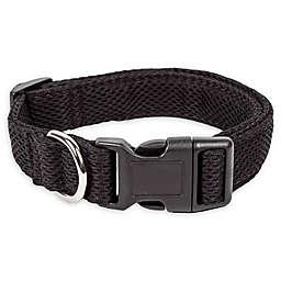 Pet Life® Aero Mesh Small Adjustable Dog Collar in Black