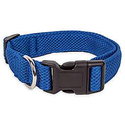 Pet Life® Aero Mesh Medium Adjustable Dog Collar in Blue