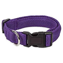 Pet Life® Aero Mesh Large Adjustable Dog Collar in Purple