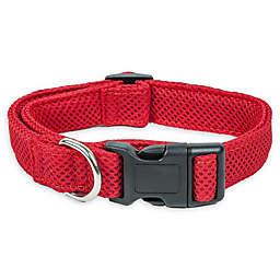 Pet Life® Aero Mesh Small Adjustable Dog Collar in Red
