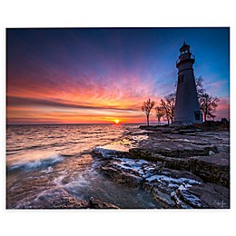 Marblehead Lighthouse in Ohio Canvas Wall Art