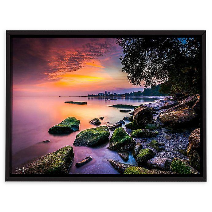Alternate image 1 for Cleveland Ohio Sunrise at Edgewater Beach 16-Inch x 24-Inch Rectangular Canvas Wall Art