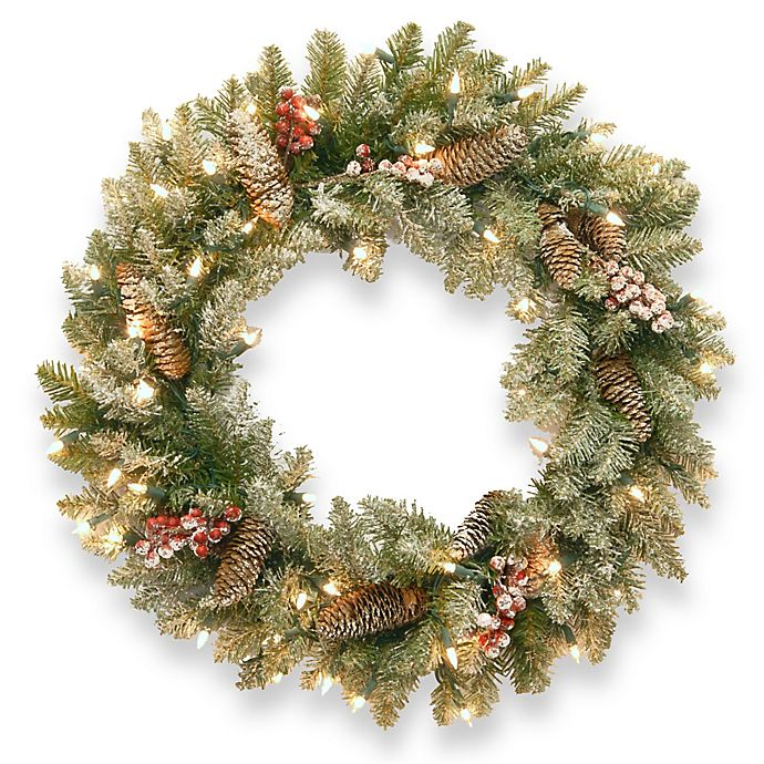 Alternate image 1 for National Tree Dunhill Fir Pre-Lit Wreath