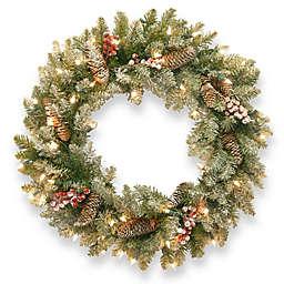 National Tree Dunhill Fir Pre-Lit Wreath