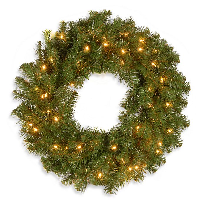 Alternate image 1 for National Tree Company Kincaid Spruce 24-Inch Pre-Lit Wreath with 50 Clear Lights