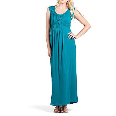Savi Mom Athens Maternity Maxi Small Dress in Jade
