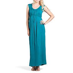 Savi Mom Athens Maternity Maxi Medium Dress in Jade