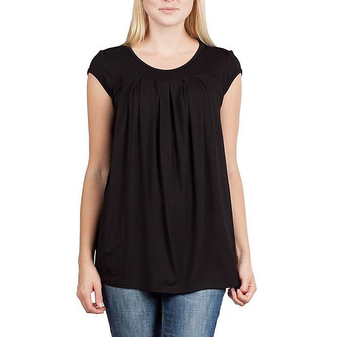 Alternate image 1 for Savi Mom Newport Maternity Large Nursing Top in Black
