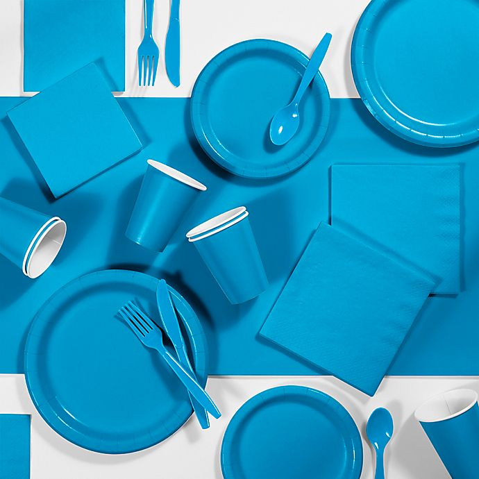 Alternate image 1 for Creative Converting 245-Piece Party Supplies Kit in Turquoise