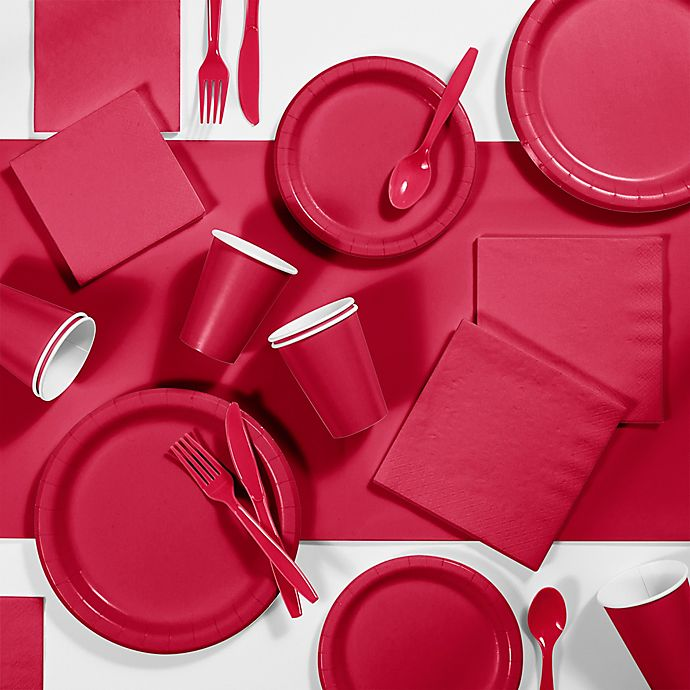 Alternate image 1 for Creative Converting 245-Piece Party Supplies Kit in Red