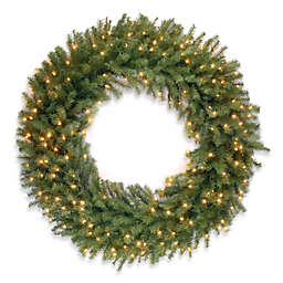 National Tree Company 48-Inch Pre-Lit Norwood Fir Wreath with Clear Lights