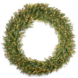 National Tree Company 60-Inch Pre-Lit Norwood Fir Wreath with Clear Lights