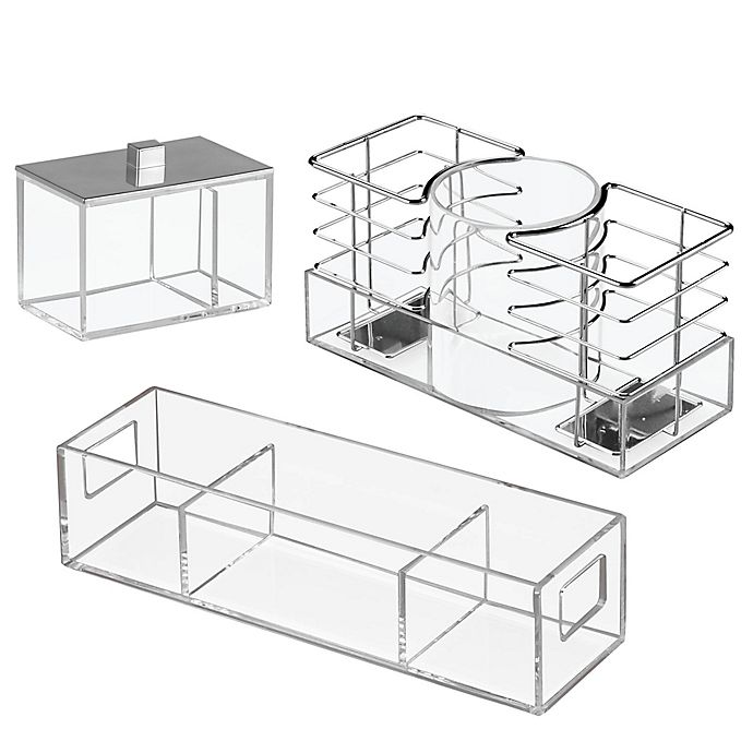 Alternate image 1 for iDesign® Luci Bath Storage Collection