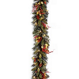 National Tree Company 9 Feet x 10 Inches Classical Collection Pre-Lit Garland with 50 Clear Lights