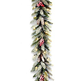 National Tree Company 9-Foot Dunhill Fir Pre-Lit Garland with Clear Lights