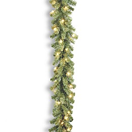 National Tree Company 9-Foot Kincaid Spruce Pre-Lit Garland with Clear Lights