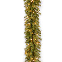 National Tree Company 9-Foot 10-Inch Pre-Lit Norwood Fir Garland with Clear Lights