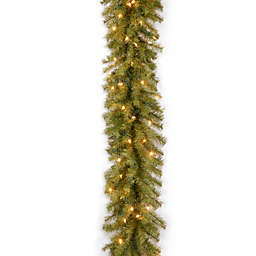National Tree Company 9-Foot 12-Inch Pre-Lit Norwood Fir Garland with Clear Lights