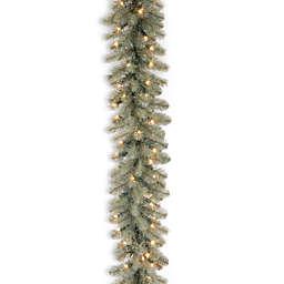 National Tree Company 9-Foot Feel-Real Down Swept Pre-Lit Douglas Blu Fir Garland w/Clear Lights