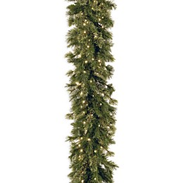 National Tree Company 9-Foot Wispy Willow Garland Pre-Lit with 50 Clear Lights