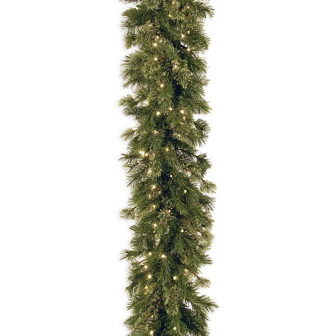 Alternate image 1 for National Tree Company 9-Foot Wispy Willow Garland Pre-Lit with 50 Clear Lights