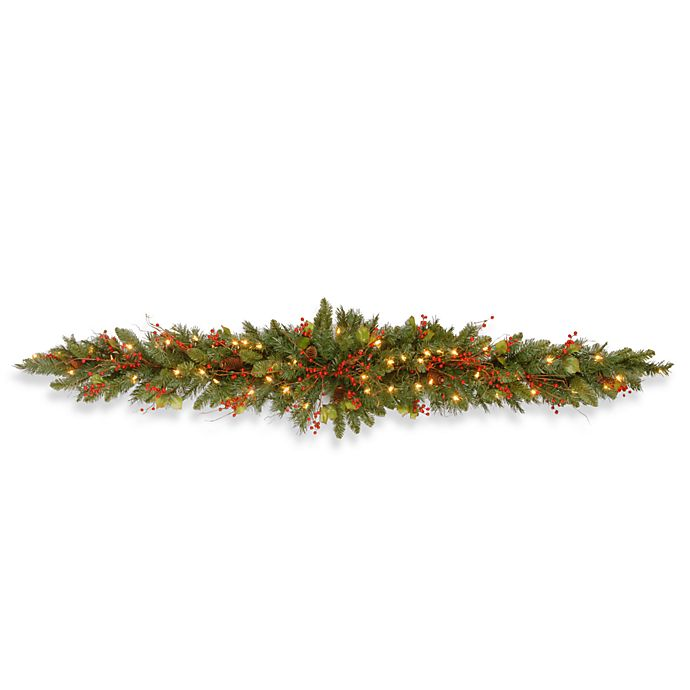Alternate image 1 for National Tree Company 6-Foot Classical Collection Mantel Swag Pre-Lit with Clear Lights