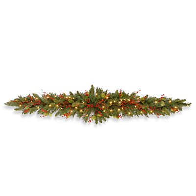 National Tree Company 6-Foot Classical Collection Mantel Swag Pre-Lit with Clear Lights