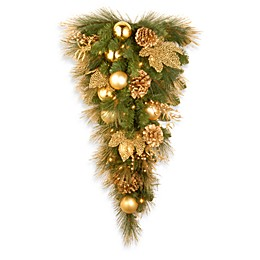National Tree Company Elegance Pre-Lit Teardrop Christmas Wreath