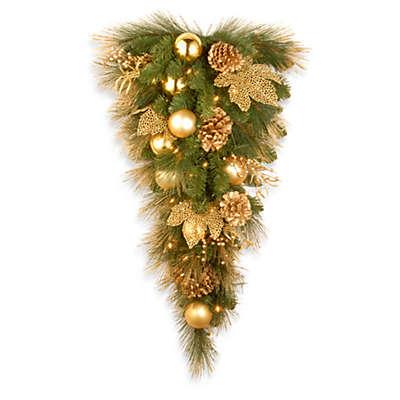 National Tree Company Elegance Pre-Lit Teardrop Christmas Wreath