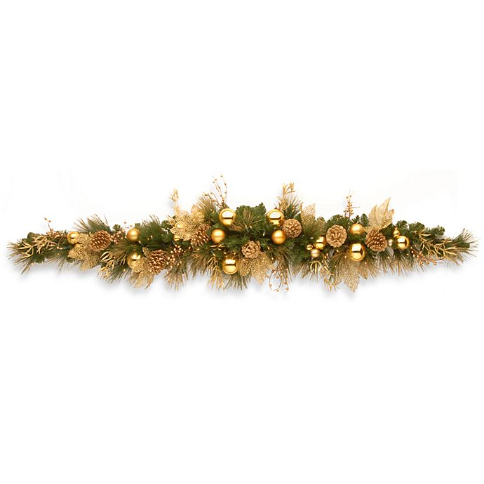 Alternate image 1 for National Tree Company Elegance 6-Foot Pre-Lit Swag with Clear Lights