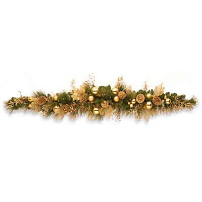 National Tree Company Elegance 6-Foot Pre-Lit Swag with Clear Lights