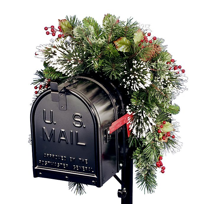 Alternate image 1 for National Tree Company 3-Foot Wintry Pine Collection Mailbox Swag
