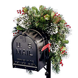 National Tree Company 3-Foot Wintry Pine Collection Mailbox Swag