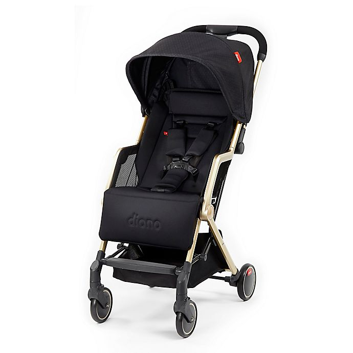 Alternate image 1 for Diono™ Traverze Luxe Super-Compact Stroller in Black Cube Platinum/Gold