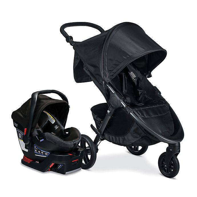 Alternate image 1 for BRITAX® Cool Flow B-Free and B-Safe Ultra Travel System in Black