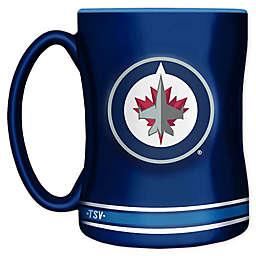 NHL Winnipeg Jets 14 oz. Sculpted Relief Mug