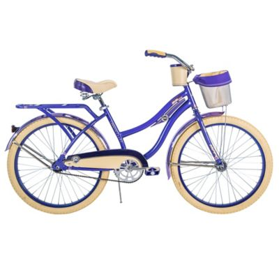 Huffy 174 Deluxe 24 Inch Perfect Fit Women S Cruiser Bike In