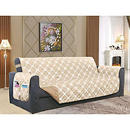Bloomingdale Oversized Sofa Protector in Cream/Taupe