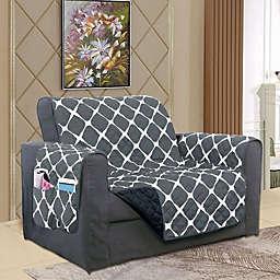 Bloomingdale Chair Protector in Black/Grey