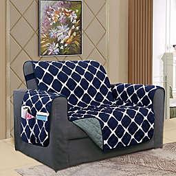 Bloomingdale Chair Protector in Navy/Grey