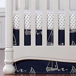 Liz and Roo Nautical Crib Skirt in Blue