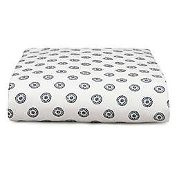 Liz and Roo Nautical Chelsea Fitted Crib Sheet in Blue