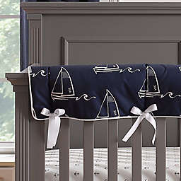 Liz and Roo Nautical Crib Rail Guard Cover in Blue