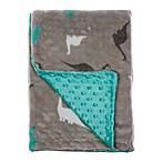 Baby Lounge Dinosaur Popcorn Blanket in Blue