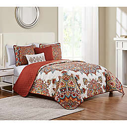 VCNY Home 5-Piece Tamara Quilt Set in Orange