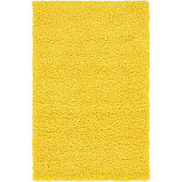 Unique Loom Solid Shag 3'3 x 5'3 Area Rug in Tuscan Sun Yellow