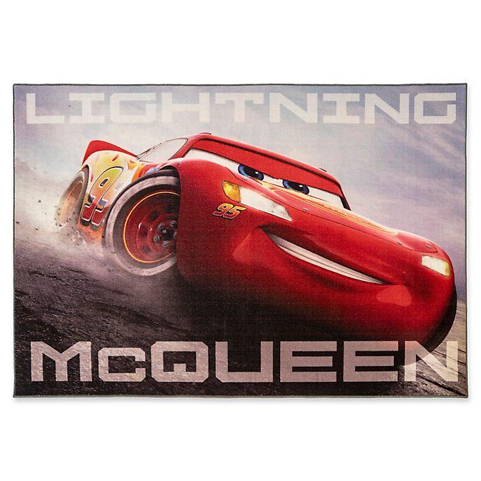 Disney Cars 3 Lightning Mcqueen 4 6 X 6 6 Area Rug Bed Bath