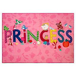 "Disney® Princess Icons 4'6"" x 6'6"" Woven Multicolor Area Rug"
