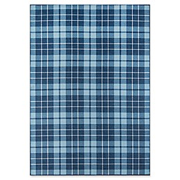 Novogratz Collection Blair Power-Loomed Area Rug in Blue